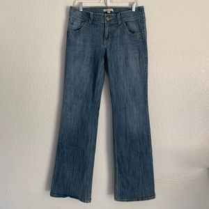 CAbi | medium wash straight jean distressing 10